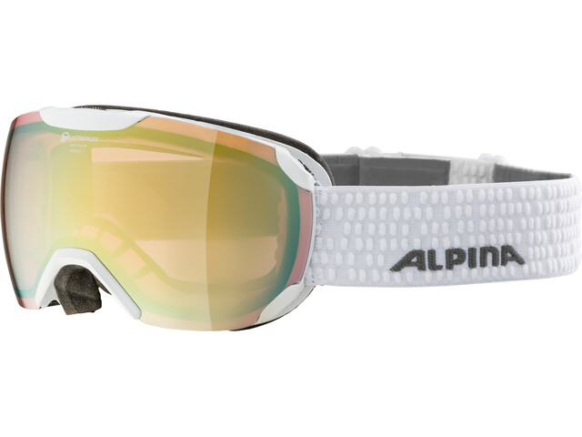Alpina Pheos S QVMM Goggles white lightgold spherical